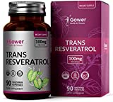 Trans Resveratrol 100mg from Japanese Knotweed Extract | 90 Vegan Capsules | High Antioxidant Potential | Natural Stilbenoid Polyphenol Supplement - Vegan, Gluten Free, Non-GMO