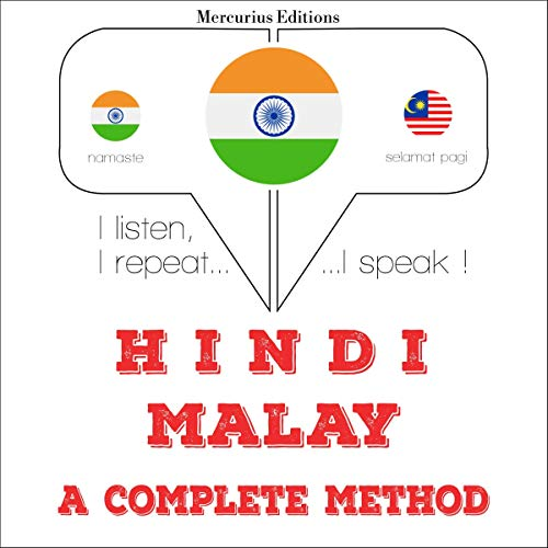 Hindi - Malay. a complete method audiobook cover art