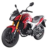 Lifan KP 200 200cc Gas Motorcycle Adult EFI Sport Motorcycle Fuel Injection 17HP Street Motorcycle Bike Fully Assembled (Red/Silver)