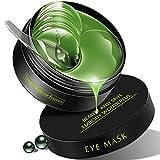 Under Eye Mask, 30 Pairs Green Tea Under Eye Patches,RABIOTA Collagen Eye Mask, Eye Gel Pads, Firming Eye Mask, Collagen Eye Patches for Eye Moisturizing,Dark Circles, Wrinkles,Fine Lin (deep green)