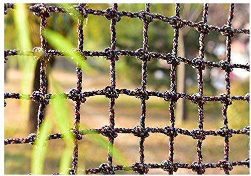 Veiligheidsnet decoratie/Trappen Klimnet Anti-val Veiligheidsnet voor Kinder Bescherming Hek Cargo Touw Ladder Mesh Outdoor Speeltuin Balkon Safe Banister Blocking net (Kleur: 16MM-15CM, Afmeting: