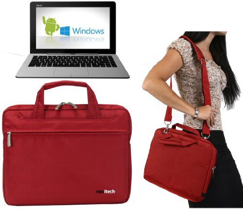 Navitech Rotes Ultrabook/Laptop/Notebook Hülle Cover Tasche für das Asus Transformer Book Duet TD300 / Asus Transformer Book 2 Trio TX201 / Asus X102