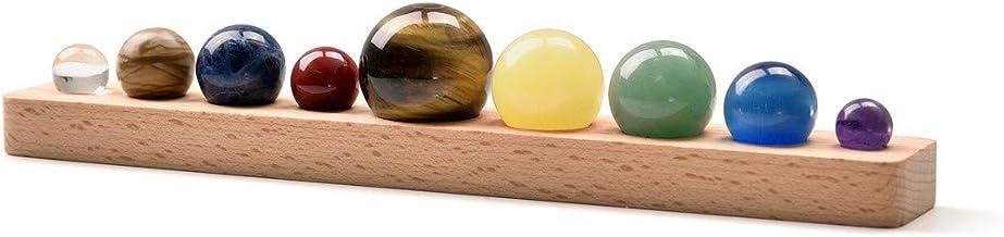 Top Plaza 9 Planets Solar System Desk Decor Tumbled Chakra Reiki Healing Crystal Gemstones Ball Set Celestial Creative Gif...
