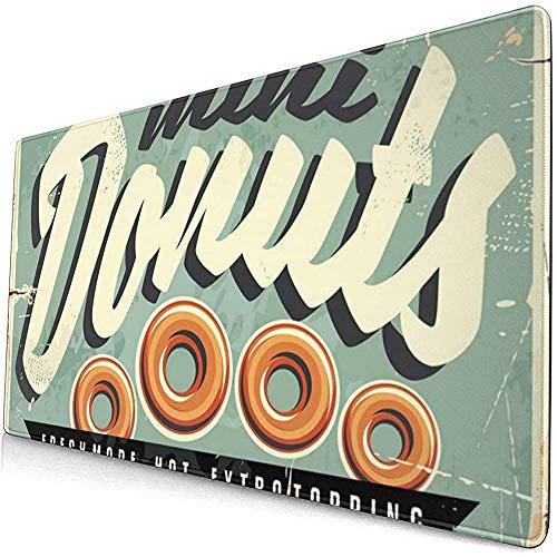 Mini Donuts vers en Hot Retro Tin Teken Uitgebreide Gaming Muis Pad,Dikke Grote Computer Toetsenbord Muismat