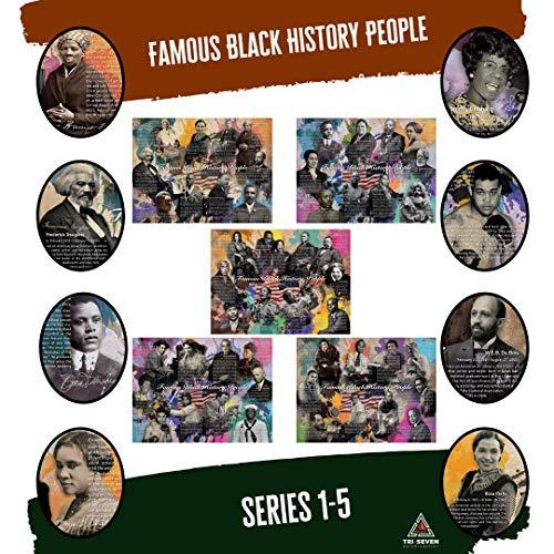 777 Tri-Seven Entertainment Famous Black History People Poster Series 1-5 (Bundle)
