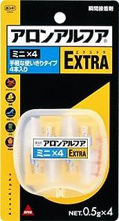 コニシ #04611 接着剤 ボンド アロンアルファEXTRAミニ×4 0.5g×4本入 おまとめセット【3個】