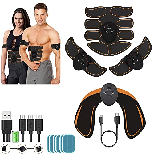 kames skoss prestige Electroestimulador Muscular Abdominales Masculino Femenino, Keat Estimulador Brazo + Muslos + Piernas,Dispositivo Oficial ofrecido USB (PI)
