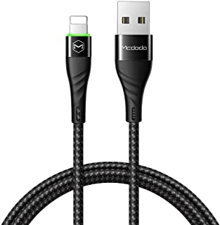 Mcdodo 120cm Lightning cable for Apple devices. Super fast fiber braided cable with led indicator. (Black)