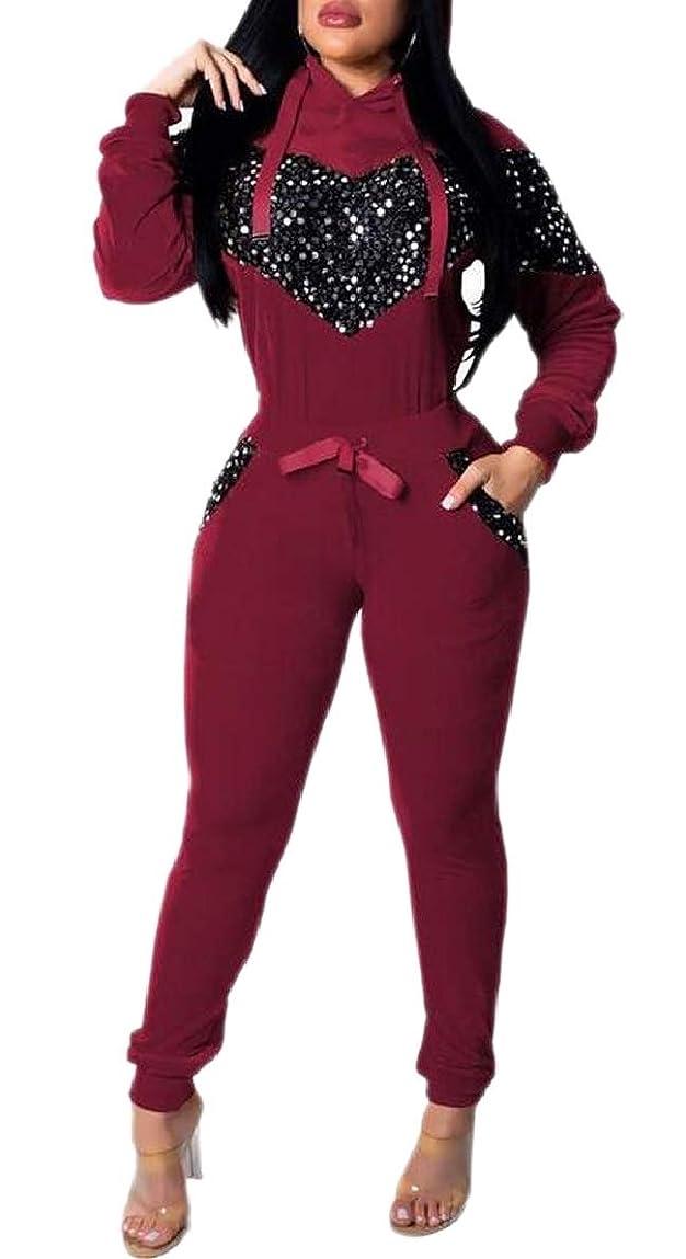 バング噛む適応女性の長袖スウェットシャツパンツ