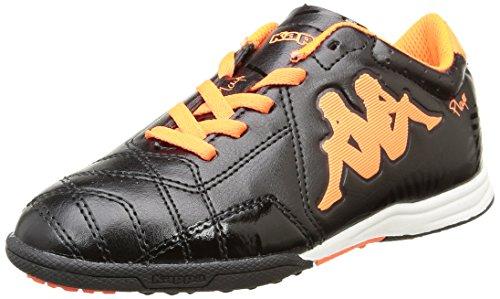 Kappa4 Soccer Player Tg - Scarpe da Calcio Americano Unisex - Bambini, Nero (Noir (Black/Orange Fluo)), 36
