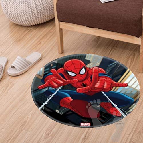 Fenfat Alfombra de baño antideslizante, suave para cocina, sala de estar, dormitorio, alfombra absorbente de ducha, 60 cm, icono de Spiderman