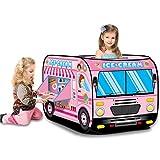 LANHA Tenda per Camion dei Gelati Tenda Pop-up Pieghevole Tenda da Gioco con Custodia per Il Trasporto Casetta dei Giochi per Bambini Giochi per Interni all'aperto 112 X 70 X 70 cm