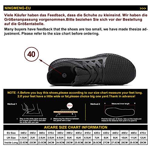 Zapatillas de Deporte Hombre Mujer Respirable para Correr Deportes Zapatos Running Calzado Deportivo de Exterior