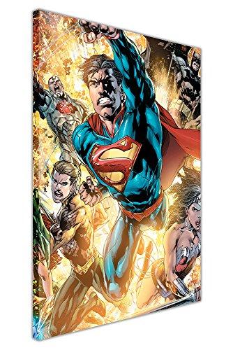 DC Comics Justice League War Superman Batman Wonder Woman Pop Art Jungen Leinwand Wall Art Drucke Superhero Poster, Canvas Holz, 08- A1-30