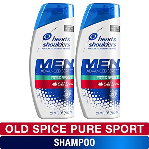 Head and Shoulders Shampoo, Anti Dandruff Treatment and Scalp Care, Old Spice Pure Sport, 21.9 Fl...