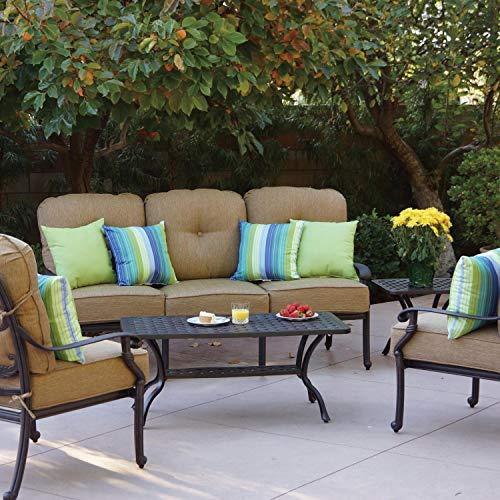 Darlee Santa Monica 5 Piece Cast Aluminum Patio Conversation Seating Set