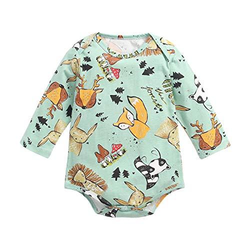 UMore Bebé Mamelucos Pijama Peleles Algodón Niñas Niños Manga larga Monos Sleepsuit Una pieza Ropa 0-24...