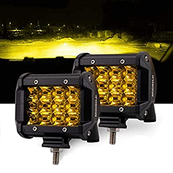 LED Lights Bar Car and Truck Fog Lights 4 Inch 36W Amber Light Work Lights 12V 24V 2 PCS Set Apply to Off Road Truck Car ATV SUV  4INCH-36W-AMBER