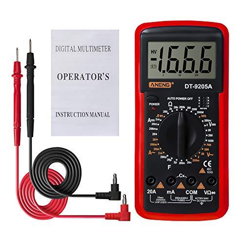 Elikliv Dt9205a Lcd Digital Multimeter Voltmeter Ohmmeter Amperemeter Kapazitätsprüfer