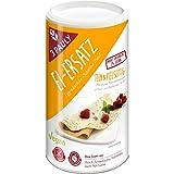 Zutaten: Maisstärke, Emulgator (Mono- und Diglyceride von Speisefettsäuren), Verdickungsmittel (Xanthan), Reismehl, Erbsenprotein. Ohne Zusatz von: Milch, Ei, Schalenfrüchten, Erdnüssen, Sesam, Soja, Lupine. Nährwertangaben pro 100 g Brennwert 2005kJ...