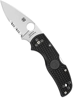 Spyderco Native 5 Lightweight Folding Knife - Black FRN Handle with CombinationEdge, Full-Flat Grind, CPM S35VN Steel Blade and Back Lock - C41PSBK5
