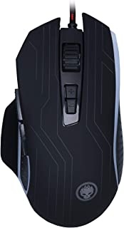 GIOCHIS'E VON-X Pro RGB -FPS Optical Wired Gaming Mouse with 4 Gear DIP Switches [Max 4200] Ergonomic Design- 7 Buttons - Auto Double Hit Key – Black