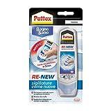 Pattex Bagno Sano Renew, sigillante bianco autolisciante, pratico sigillante impermeabile ...