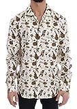 Dolce & Gabbana - Camisa Estampada de Jazz de Seda Blanca - Blanco - 50