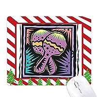 紫のラケットmexicon文化要素の彫刻 ゴムクリスマスキャンディマウスパッド