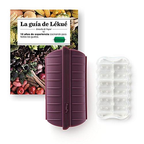 Compra Lekue - Estuche de vapor, Con bandeja y libro en Español, Berenjena, 1 - 2 personas (650 ml) en Amazon.es