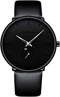 Mens Watches Ultra-Thin Minimalist Waterproof-Fashion Wrist Watch for Men Unisex Dress with...