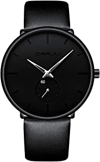 Mens Watch Ultra Thin Wrist Watches for Men Fashion...