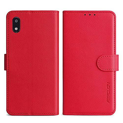 FMPCUON Handyhülle Kompatibel mit LG G8X ThinQ/LG V50S Hülle Leder PU Leder Tasche,Flip Hülle Lederhülle Handyhülle Etui Handytasche Schutzhülle für LG G8X ThinQ/LG V50S,Rot