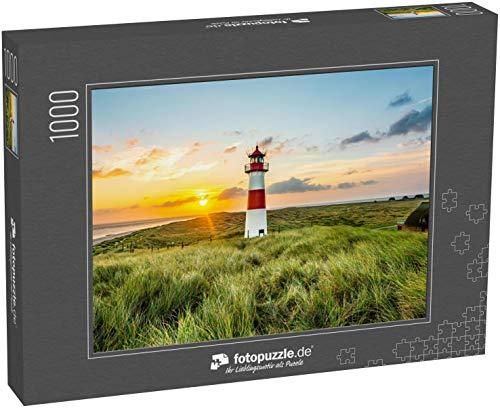 fotopuzzle.de Puzzle 1000 Teile Sonnenaufgang am Leuchtturm in List auf der Insel Sylt, Schleswig-Holstein, Deutschland (1000, 200 oder 2000 Teile)