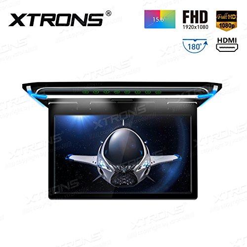 """XTRONS 15,6"""" Digital TFT 16:9 FHD Bildschirm für Auto Bus unterstützt 1080P Video Auto Overhead Player Auto Monitor mit HDMI Port Automosphäre LED Licht Windows CE für Urlaub (CM156HD)"""