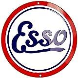 Tag City Esso Gasoline Nostalgia Sign 12 Inch Diameter