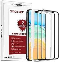 OMOTON Protector Pantalla iPhone 11/XR Cristal Templado iPhone 11/XR, Anti-Burbujas, Anti-despegamientos, Anti-arañazos,...