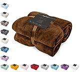 DecoKing Kuscheldecke 160x210 cm braun Decke Microfaser Tagesdecke Fleece weich sanft kuschelig Schoko Brown Chocolate Mic