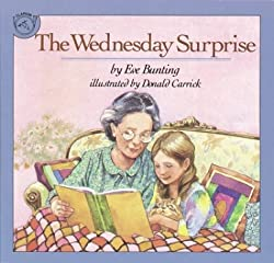 A screenshot of the cover of the book The Wednesday Surprise