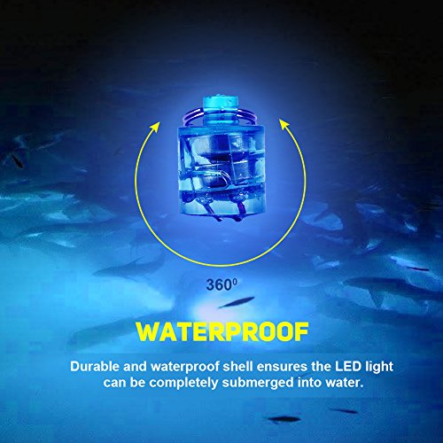 Vbestlife visaas Light Deep Underwater zout water freshwater lures krullend licht waterverlichte LED-knipperlichten