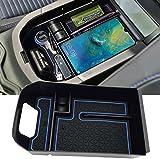 EVTIME for Toyota RAV4 Accessories Center Console Organizer Tray Armrest Box Secondary Storage Fit 2019 2020 2021 Toyota RAV4 (Blue)
