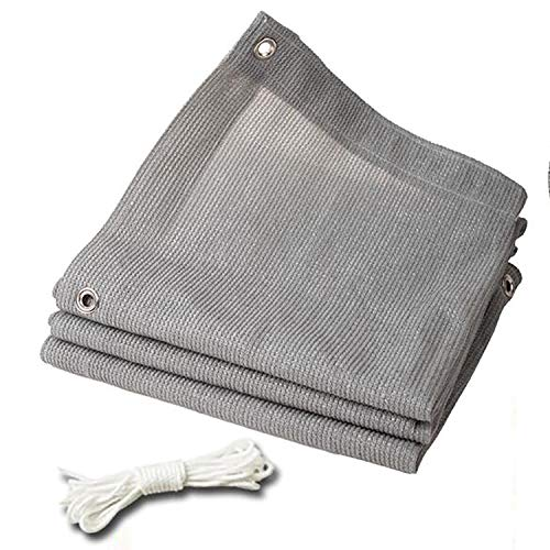 WXQIANG 90% Shade Cloth Sun Mesh Patio Lawn UV Resistant Tarpaulin Top Shade Cloth Quality Panel Pergola Plant Cover (Color : Gray, Size : 9.9x9.9ft/3x3m)