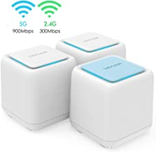 $99 » Mesh WiFi Router,Dual Band AC1200 Whole Home Mesh WiFi System with Touchlink Function, Router & Extender Replacement Covers up to 6,000 sq. ft, 3-Pack Includes 1 WiFi Router & 2 WiFi Extenders
