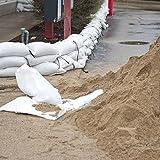 Sacchi di sabbia per alluvione, 40 x 60 cm, bianco, con laccetto, per 15 kg (300)