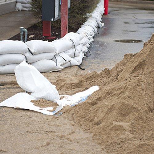 Sandsäcke Hochwassersäcke 40 x 60 cm weiss mit Bindband für 15 kg (25)