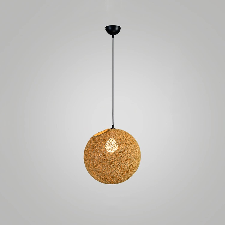 Arbeitszimmer Beleuchtung Kronleuchter, Schlafzimmer Treppe Wohnzimmer Esszimmer Hngelampen, Rattan Leinen Ball Bekleidungsgeschft LED Dekorative Kronleuchter ( Farbe   Ginger Gelb , Größe   20cm )