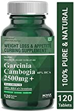 Carbamide Forte Garcinia Cambogia 2500mg with 60% HCA Per Serving | Natural Fat Burner & Keto Weight Loss Supplement for Women & Men – 120 Veg Tablets