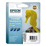 Epson Multipack 3-coulered T048B–Cartuccia di inchiostro per stampanti, Ciano, Magenta, Giallo, 39ml, Epson Stylus Photo R200, R220, R300, R320, R340, RX500, RX600, RX620, RX640, 24,6cm, 11,6cm, 14,5cm) si