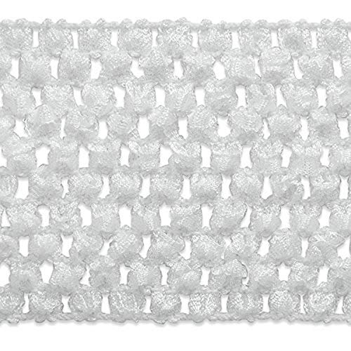 Expo International 2-3/4-Inch Crochet Stretch Trim Embellishment, 20-Yard, White