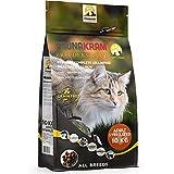 Faunakram Katzenfutter mit Lachs und Taurin. Komplett getreidefreies Trockenfutter für Katzen mit Lachs, geeignet für sterilisierte Katzen; sowohl kurzhaarige als auch langhaarige Katzen (Huhn, 10 kg)